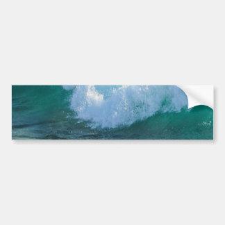 Awesome Wave sea shore nautical ocean nature Bumper Sticker
