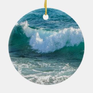 Awesome Wave sea shore nautical ocean nature Ceramic Ornament