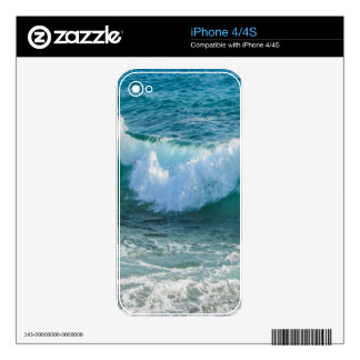 Awesome Wave sea shore nautical ocean nature Decals For The iPhone 4S