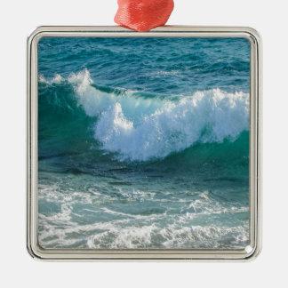 Awesome Wave sea shore nautical ocean nature Metal Ornament