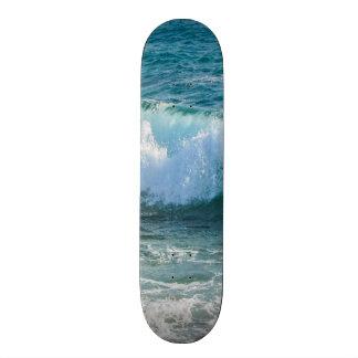 Awesome Wave sea shore nautical ocean Skateboard Deck