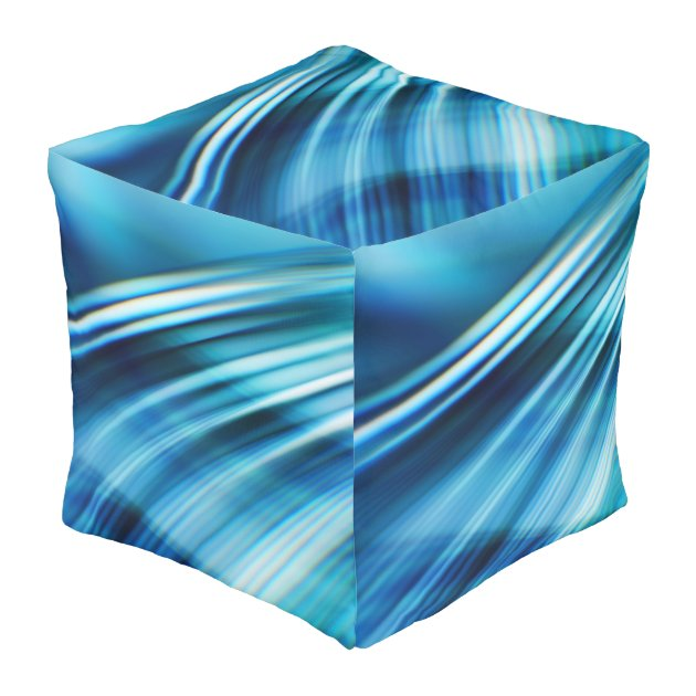 Awesome Waves 2 Cube Pouf Zazzle