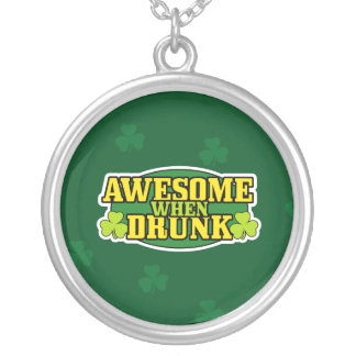 Awesome When Drunk St. Patrick's Day Necklace