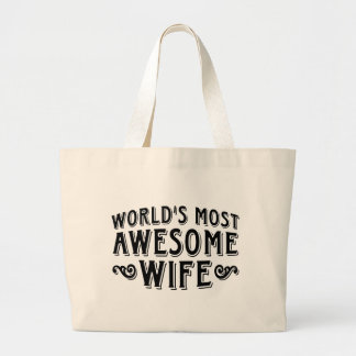 Awesome Wife Canvas Bags
