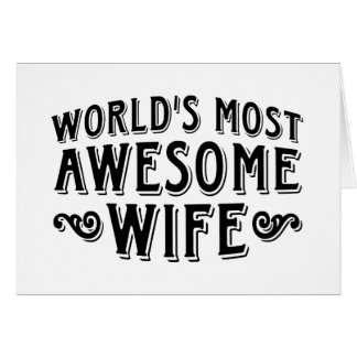 Awesome Wife Card