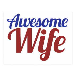 Awesome Wife Postcard