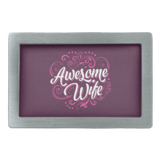 Awesome Wife Rectangular Belt Buckle