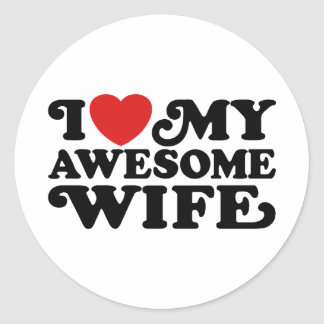 Awesome Wife Round Stickers