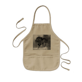Awesome wild horse kids' apron