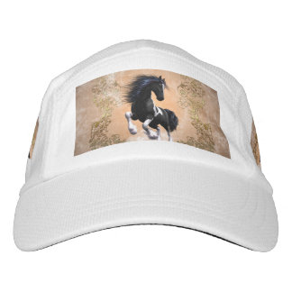Awesome wild horse with floral elements headsweats hat