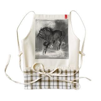 Awesome wild horse zazzle HEART apron