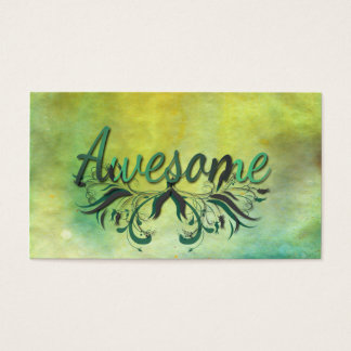 Awesome with Flourishes Business Card