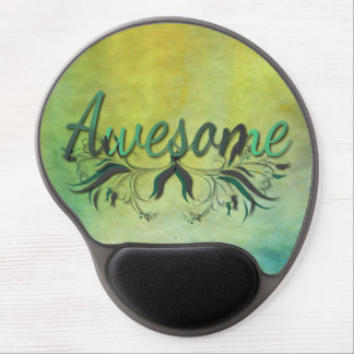 Awesome with Flourishes Gel Mouse Mat