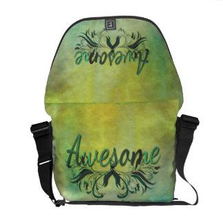 Awesome with Flourishes Messenger Bag