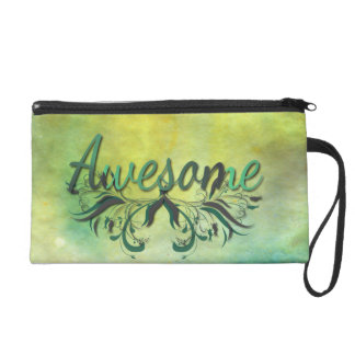 Awesome with Flourishes Wristlet Purse