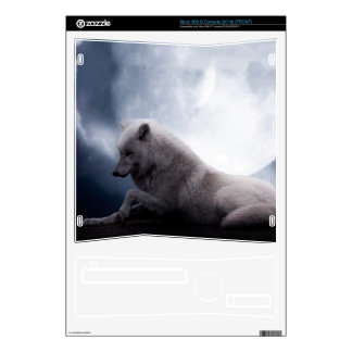 Awesome Wolf and Moon White Wolf Xbox 360 S Skins
