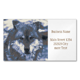 awesome Wolf Magnetic Business Card