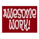 Awesome Work Employee Appreciation Thank You Postcard