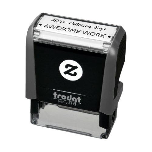 Awesome Work  Personalized Teachers Self_inking Stamp