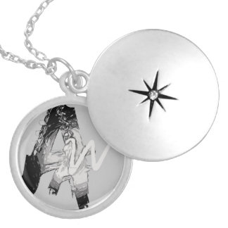 Awesome Writer Silver Plated Locket