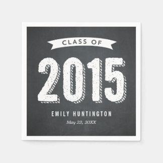 Awesome Year Chalkboard Graduation Napkins Standard Cocktail Napkin