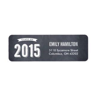 Awesome Year Graduation Address Label Chalkboard