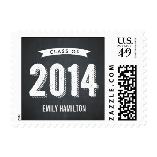 Awesome Year Graduation Postage Stamp - Chalkboard Stamps