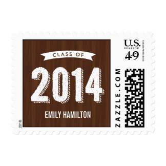 Awesome Year Graduation Postage Stamp - Wood Stamps