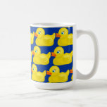 Awesome Yellow Rubber Ducky Wallpaper Design Classic White Coffee Mug