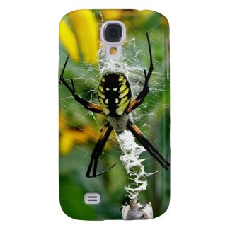 Awesome Yellow Spider i Samsung Galaxy S4 Cover