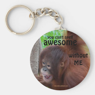 Awesome: you need ME Basic Round Button Keychain