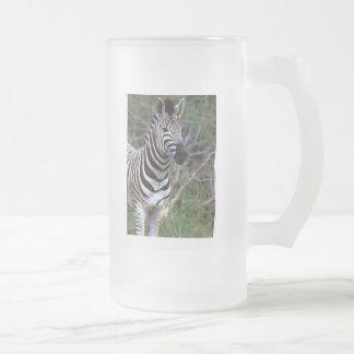 Awesome zebra on beer mug