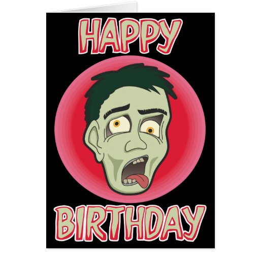 Awesome zombie birthday card zazzle