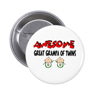 AWESOMEGREAT GRAMPA of TWINS Pinback Button