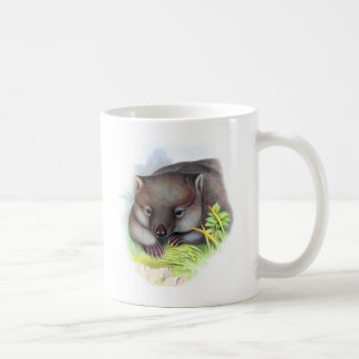 Awesomely cute Australian animal wombat vintage Coffee Mug