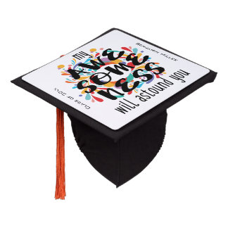 Awesomeness (Black Text)-Choose Background Color Graduation Cap Topper