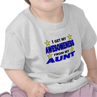 Awesomeness de mi tía camisetas
