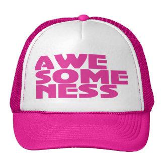 Awesomeness Pink Trucker Cap Hat design.