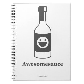 Awesomesauce (Light Product/Dark Design) Spiral Notebook