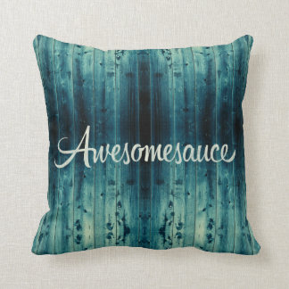 Awesomesauce Wood Panel Throw Pillow