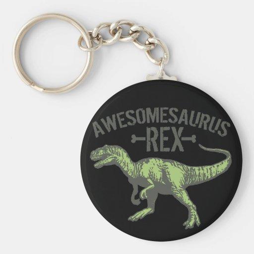 Awesomesaurus Rex Basic Round Button Keychain
