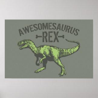 Awesomesaurus Rex Póster