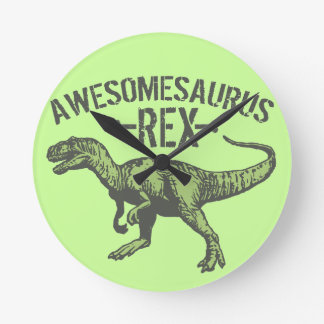 Awesomesaurus Rex Reloj Redondo Mediano