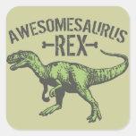 Awesomesaurus Rex Square Sticker