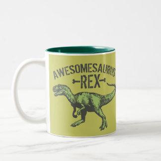 Awesomesaurus Rex Taza De Café De Dos Colores