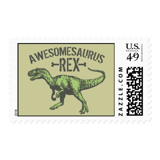 Awesomesaurus Rex Timbres Postales