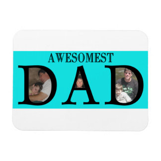 Awesomest Dad Fathers Day Add Your Pictures Logo Magnet