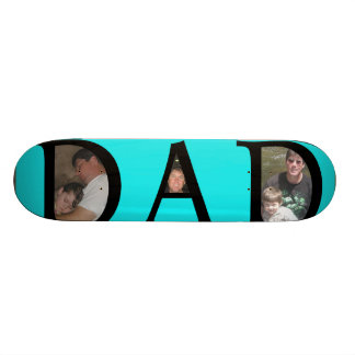 Awesomest Dad Fathers Day Add Your Pictures Logo Skateboard