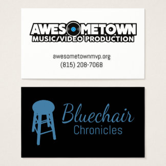 Awesometown / Bluechair Double sided business card