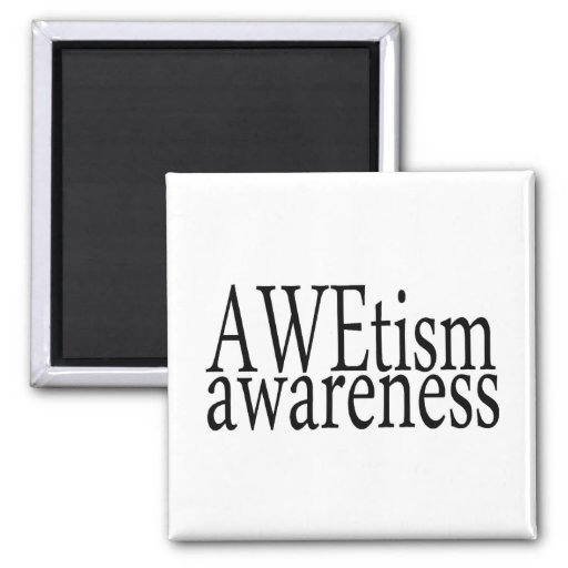 AWEtism Awareness 2 Inch Square Magnet